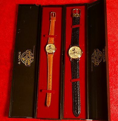 Mickey Mouse 60Th Anniversary  Watches Lorus  Man & Woman Set New W/ Sneakers