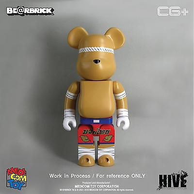 Thailand Exclusive 2017 Medicom Toy BE@RBRICK MUAY THAI Boxing 400% x2/100% x2