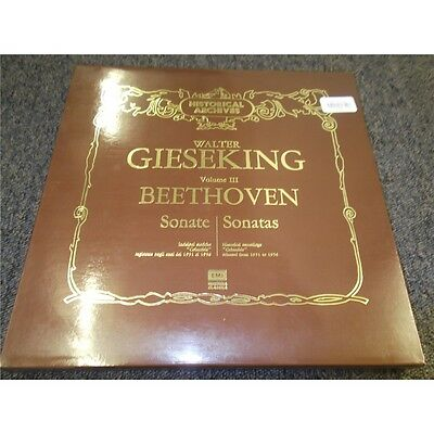 UNIQUE ! Walter GIESEKING - BEETHOVEN Sonate VOLUME 3 - BOX -10 LP EMI - NM-/NM+