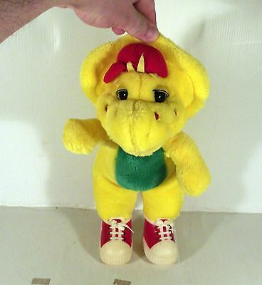 """12"""" Bj  B.j. From The Barney Tv Show Soft Toy Yellow Dinosaur"""