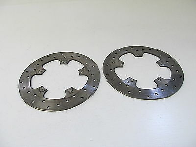 05-07 Piaggio Bv 500 Bv500 Oem Front Left Right Brake Rotors Discs