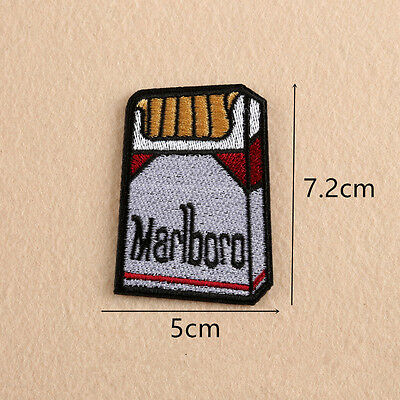 Embroidered Cigarette Patches Sew Iron On Badge Hat Bag Clothes Applique Craft