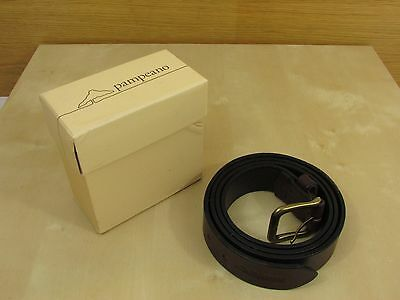 """Pampeano """"Papa"""" Leather Belt - Brown - Gentleman's 120cm - Hand Crafted -New"""