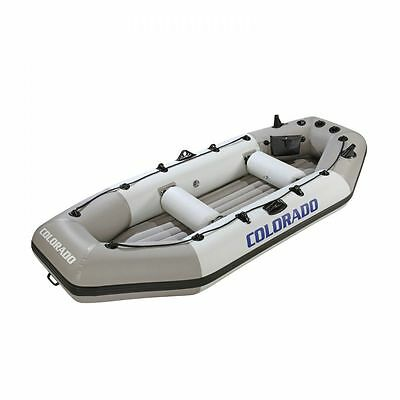 Rubber dinghy Set Fishing boat Rowing boat+ Accessories for 4 Persons Wehncke DE
