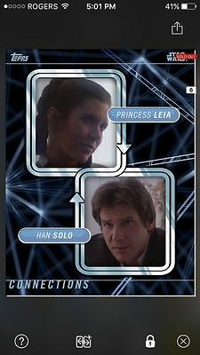 Topps Star Wars Digital Card Trader Leia/Han Connections  Insert