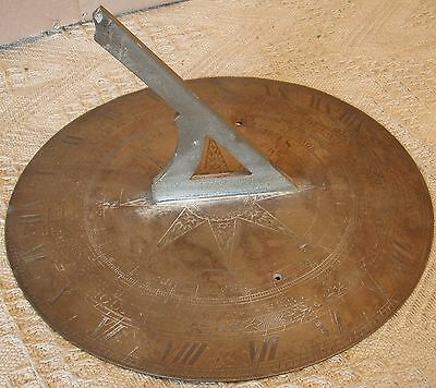 Antique Scientific Instrument Sun Dial By F. Barker and Sons