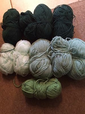 Selection Of Green Wool