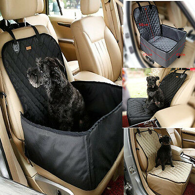 New 2 IN 1 Waterproof Car Pet Dog Cat Front Seat Cover Travel Basket Protector
