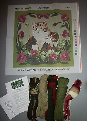 Sara Davenport - Cat & Kitten (Innocents) Tapestry Needlepoint Kit - New Bnip