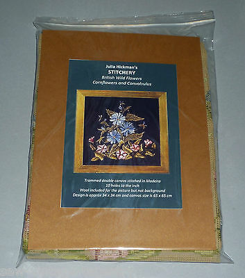 Stitchery Wild Cornflowers & Convolvulus Julia Hickman Tapestry/ Needlepoint Kit