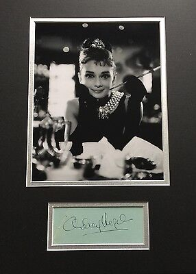 Signed Audrey Hepburn Display with COA-Rare
