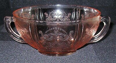 MacBeth Evans Pink American Sweetheart 2 Handled Cream Soup Bowl 4 Available