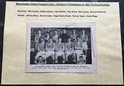 Busby Babes Signed Team picture 1957 including Duncan Edwards-Very Rare