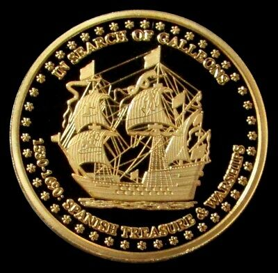 """Awesome 1 Oz Pure Gold Proof """"In Search Of Gallons"""" Wall Street Medallion"""