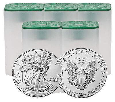 Monster Box of 500 - 2017 1oz Silver American Eagle $1 Coin .999 Fine BU