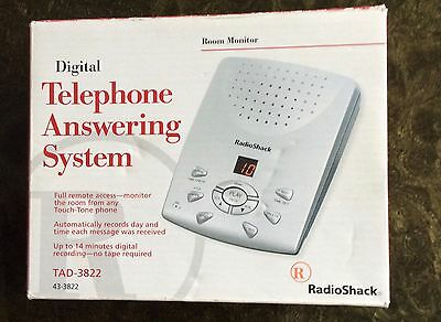 Digital Telephone Answering System, Radio Shack 43-3822 TAD-3822 NEW Easy to use