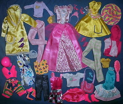 Barbie, Sindy Doll clothes lot: 32 Mix & Match items - ALL GOOD PLAY condition