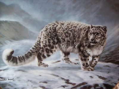 SNOW LEOPARD Plate 1991 Fleeting Encounter by Charles Frace # 17213B