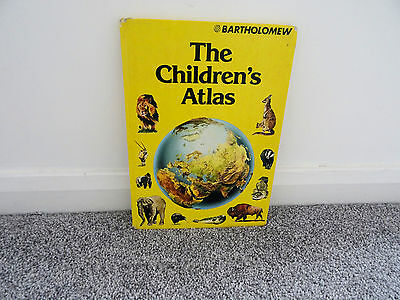 BOOK THE CHILDRENS ATLAS by BARTHOLOMEW