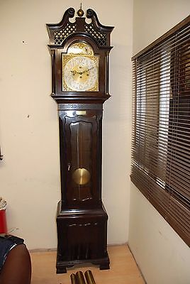 Large Musical 16 Hidden gongs Chippendale Style Longcase Grandfather Clock