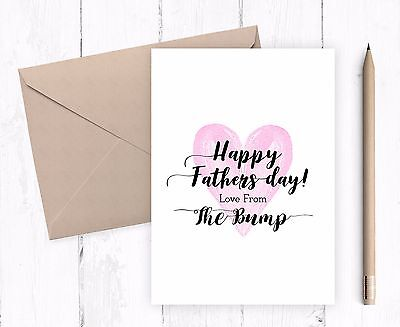 Happy Fathers Day Cards Dad Daddy Grandad From the Bump Greeting Card Present