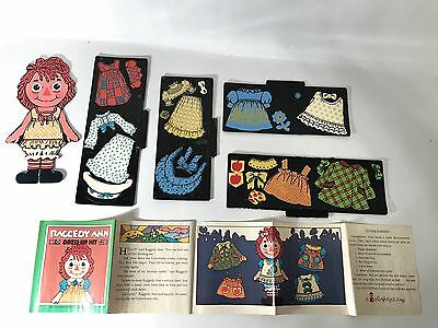 Vintage Raggedy Ann Dress Up Doll Colorforms Toy PlaySet Box 1967 Near Complete