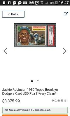 Authentic Autographed Jackie robinson original