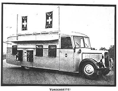Switzerland 1937 Used Postcard, Automotive Post Office On Saurer Chassis !!