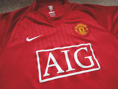 Authentic Nike EPL Manchester United Blank Football Soccer Jersey Shirt L Game