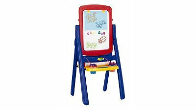 Crayola Qwikflip 2-Sided Easel Dry Erase Board Scaffold with Paper Clip - Blue
