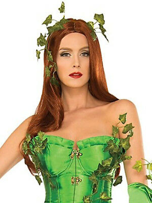 Deluxe Washable Poison Ivy Wig Red Auburn Batman Villain Mother Nature Hair