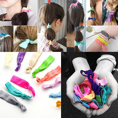 Nice 30Pcs Girl Elastic Hair Ties Rubber Band Knotted Hairband Ponytail  Holder dab994b48b11
