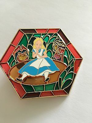 Disney DisneyShopping Stained Glass Alice in Wonderland Toadstool  Pin LE 250