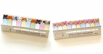 Cute Note Stick Post it One Point Marker Sticker Stationery - CATS+PIGS =2packs