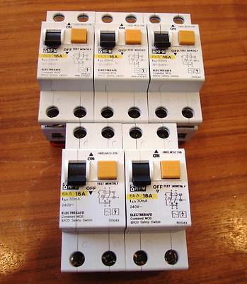 HPM Electresafe Combined MCB & RCD Safety Switch. 16A 6kA - 30mA Quality Made