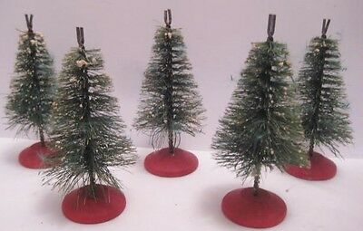 5 Rare Advertising Bottle Brush Christmas Trees Card Holders  Freeport Tree Farm