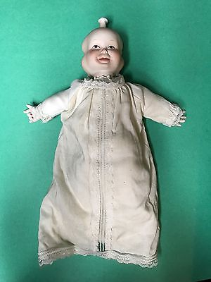 Vintage Porcelain Multi Face Bisque Baby Doll - 3 Face Smiling Crying Sleeping