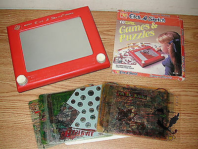 Vintage 1981 Ohio Art Magic Etch-A-Sketch Screen 505 With Games And Puzzles 516