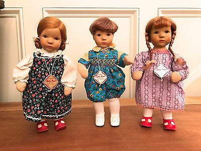 Kathe Kruse 10 Inch Trio Doll Collectibles