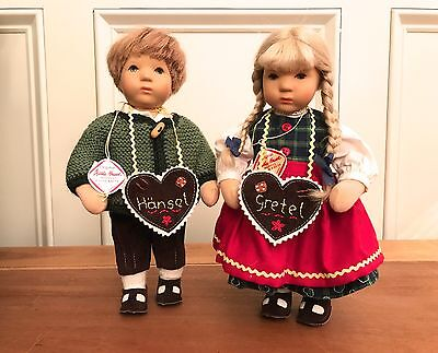 "Kathe Kruse ""hansel And Gretel"" 10 Inch Pair Doll Collectibles"
