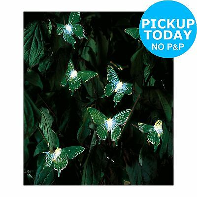 HOME Solar Colour Changing Butterfly Lights - Set of 20. From Argos on ebay