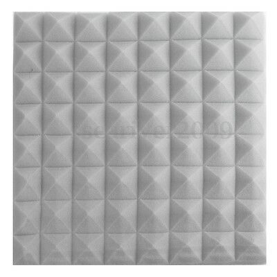 6pcs Pyramid Sound-absorbing Acoustic Foam Panels Soundproofing 20''x20''x2''