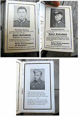 3 brothers DIED SAME WEEK Schutzpolizei German death card WWII police EK2 medal