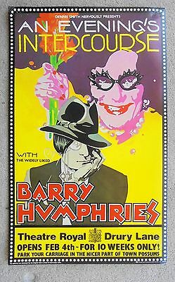 1982 AN EVENING'S INTERCOURSE WITH BARRY HUPHRIES poster at DRURY LANE