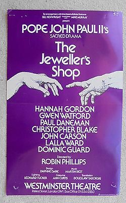 1982 THE JEWELLER'S SHOP poster (mauve) WESTMINSTER THEATRE with HANNAH GORDON