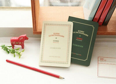 Vintage Korean Stationery Le Dictionnaire Pocket Notebook Diary B7 in Dark Green