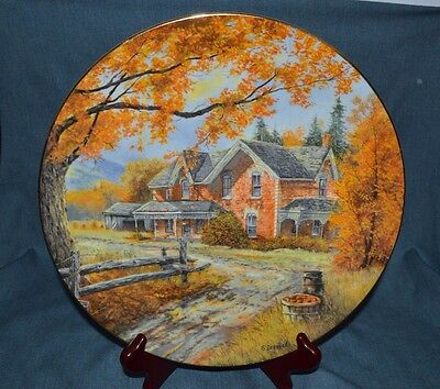 """Vintage Collectors Plate """"autumn Memories"""" By S. Deaville 8Th In Discover Canada"""