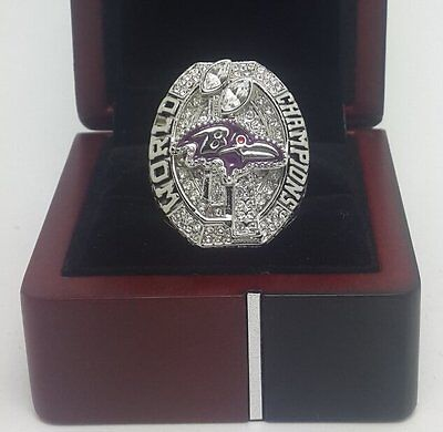 New 2012 Baltimore Ravens Championship Ring Solid Gift