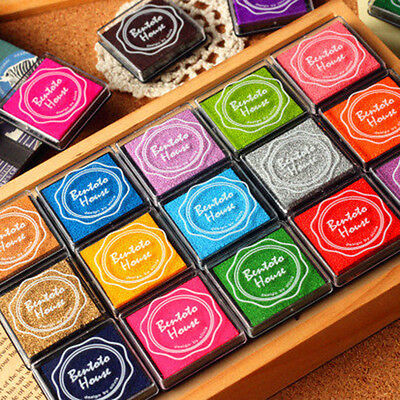 20 colors DIY Scrapbooking Ink pad Colorful Inkpad Stamps Sealing Decoration