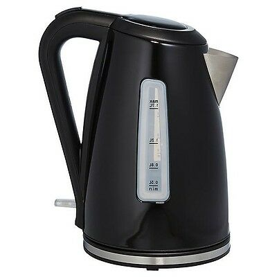 Stainless Steel Kettle Black 1.7L Automatic Switch Cordless Electric Jug Water